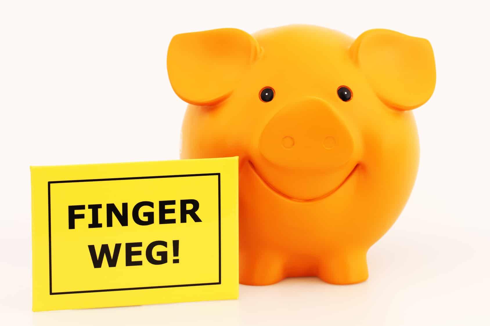 Sondervermögen: Sparschwein sagt Finger Weg vom Fondsvermögen!