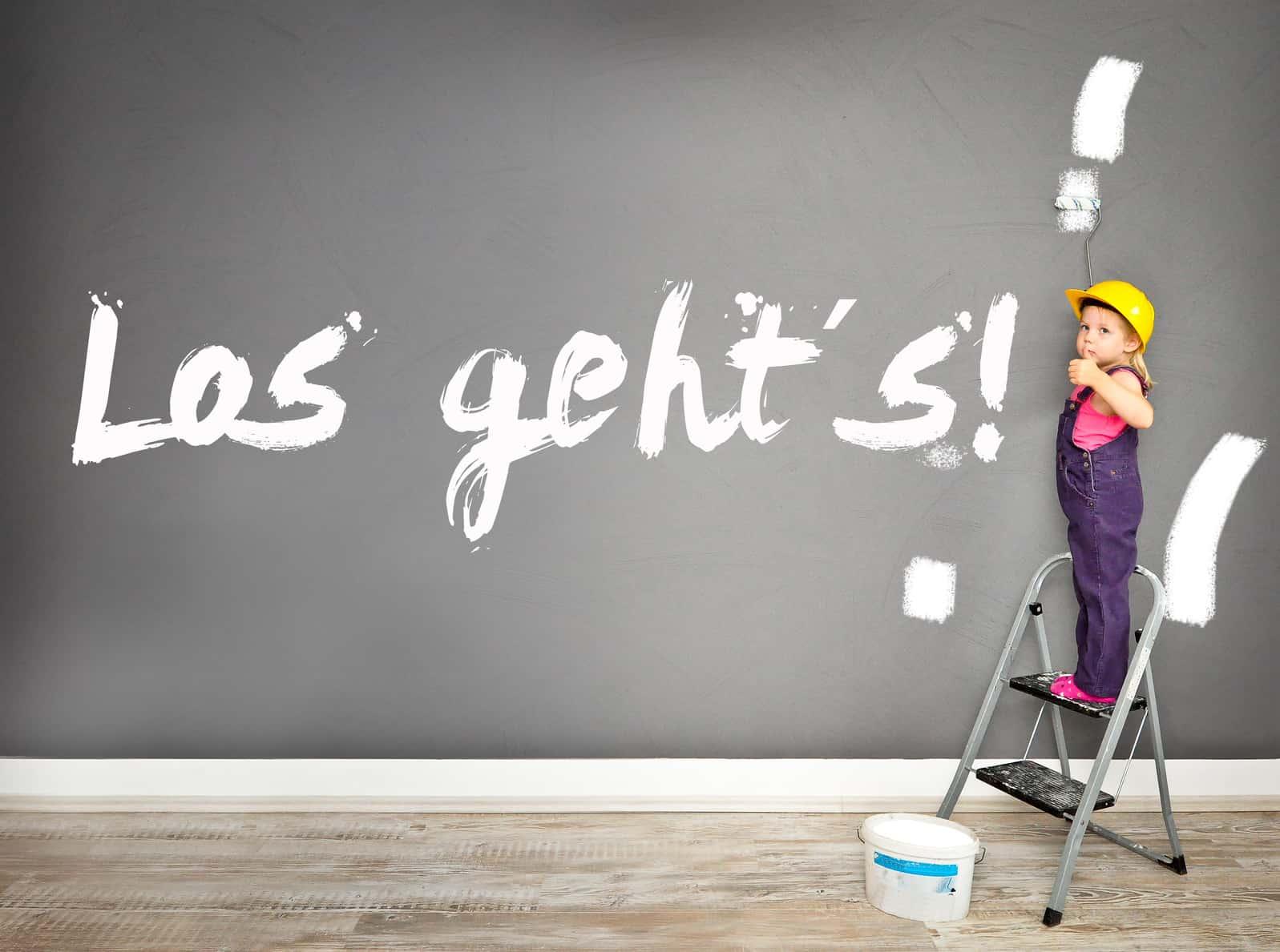 Passiv Investieren: Kind streicht los geht's an die Wand