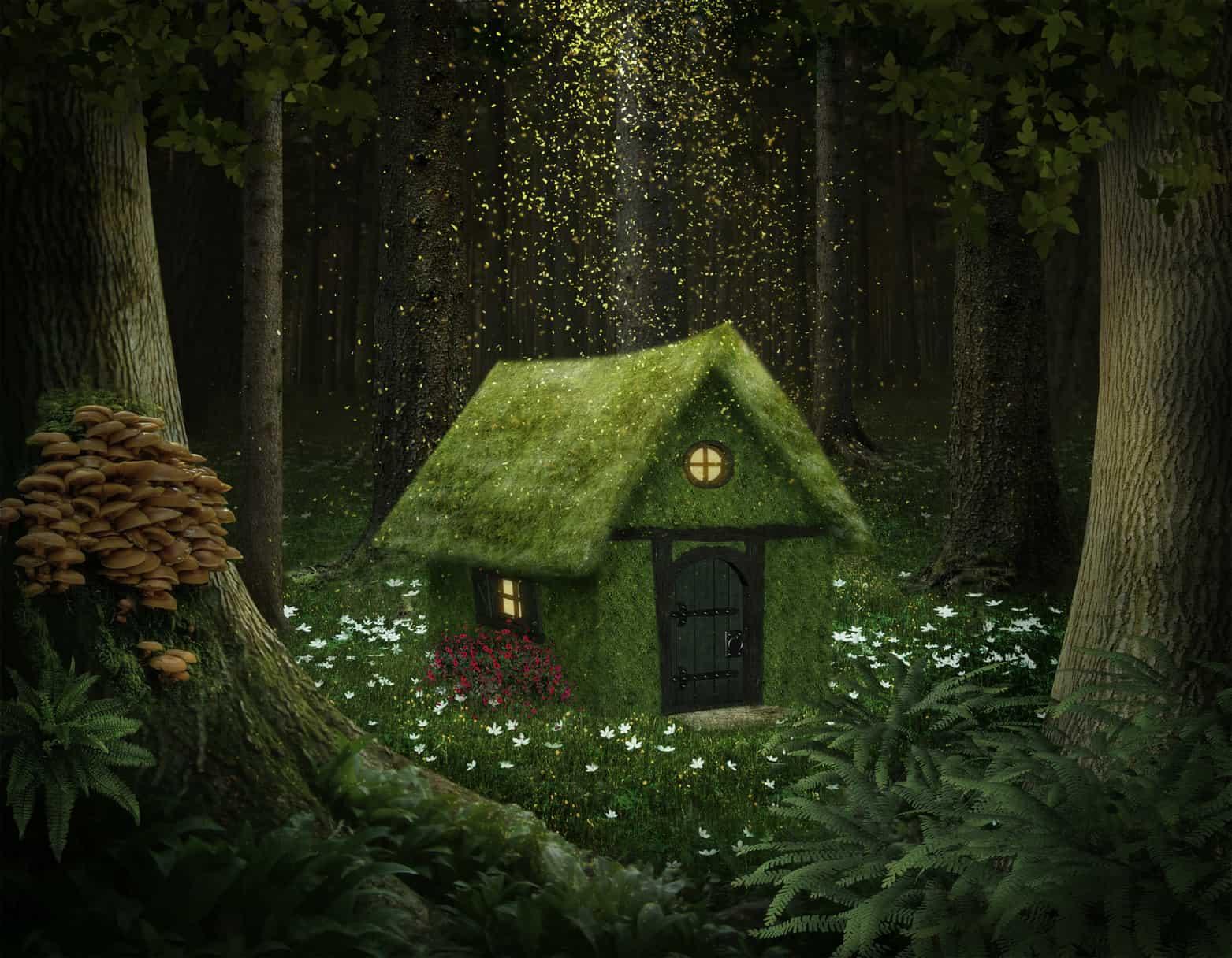 Passives Einkommen ist ebenso ein Märchen wie das Mooshaus auf dem Bild